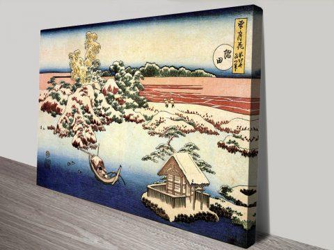 Buy Winter Landscape of Suda Japanese Canvas Art