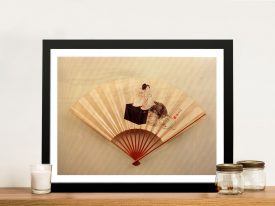 Buy A Framed Print of Young Lady by Hokusai