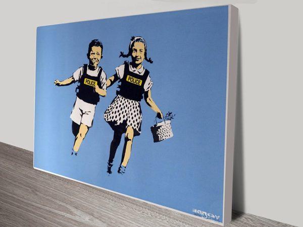 Jack and Jill Banksy Canvas Art