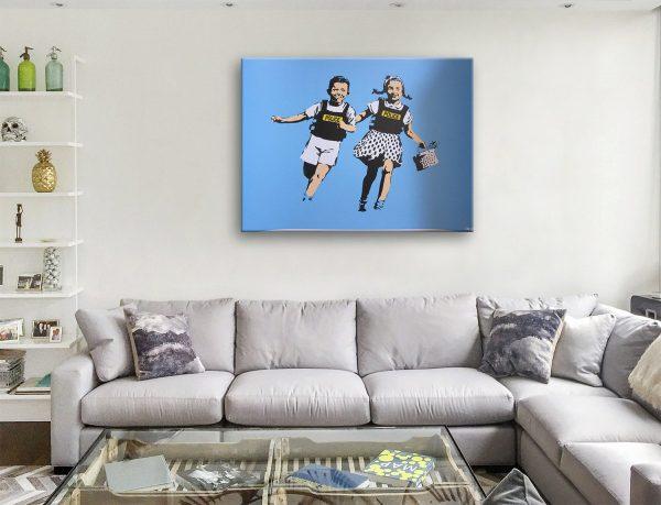 Jack And Jill (Police KidsBanksy Wall Art Prints Australia