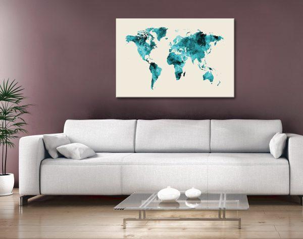 Buy World Map Wall Art Unique Gift Ideas AU