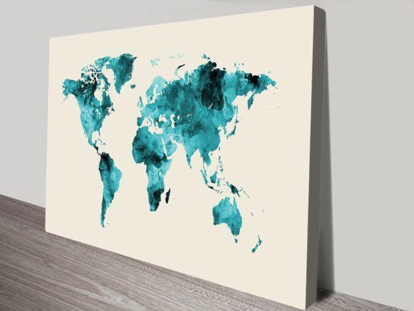 Buy A Cheap Canvas World Map Print Online