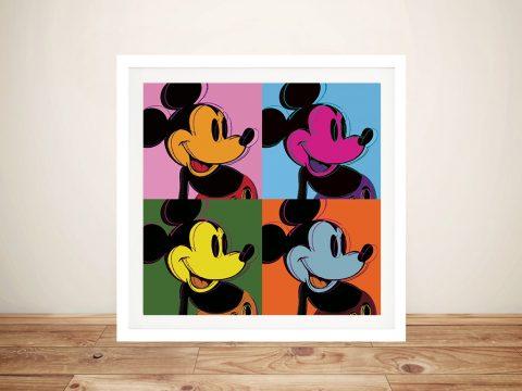 Mickey Mouse Pop Art ll Retro Canvas Wall Art