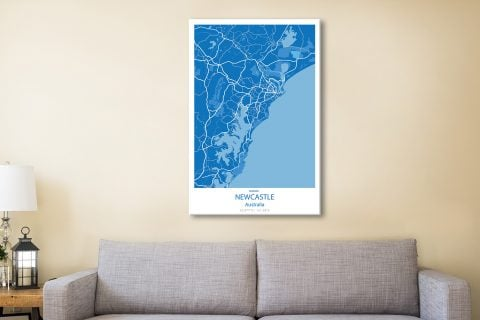Newcastle-Blue-city-map-canvas-print