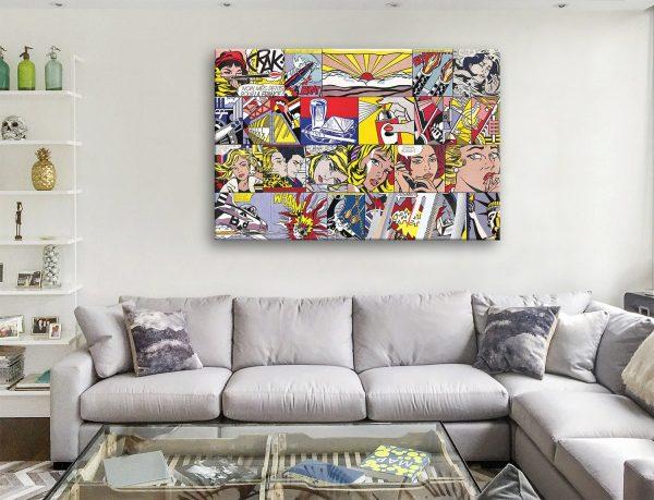 Lichtenstein Collage Wall Art Great Gifts Online
