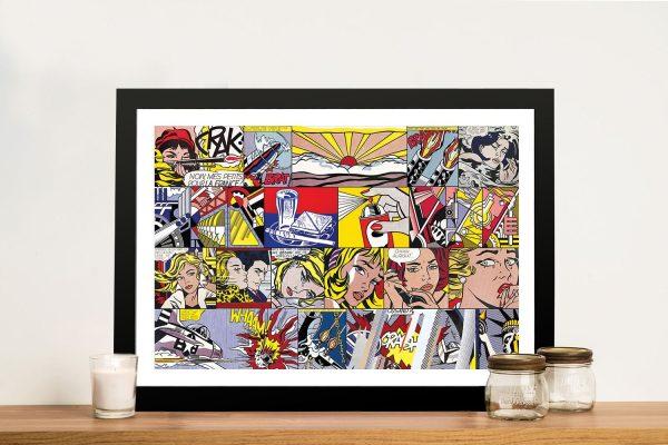 Buy Lichtenstein Pop Art Collage Framed Wall Art