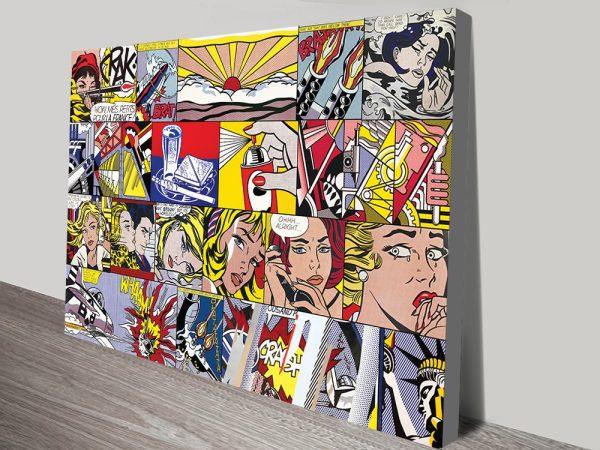 Buy Lichtenstein Collage Wall Art Great Gifts AU
