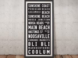Sunshine Coast Contemporary Tram Scroll