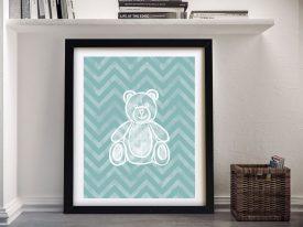 Buy Framed Teddy Bear Canvas Wall Art
