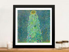 Buy The Sunflower by Klimt Framed Classic Art