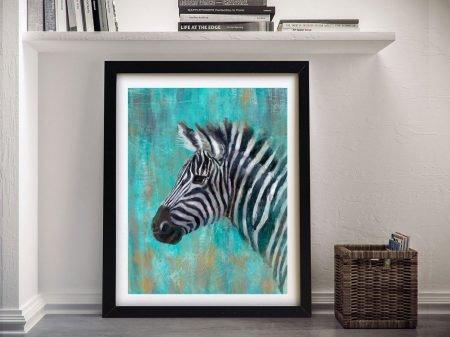 Buy A Striking Framed Print of a Zebra