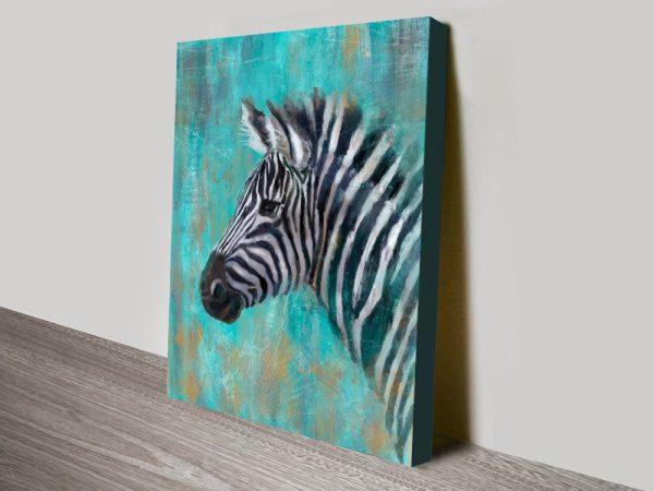 Buy A Zebra Stretched Canvas Wall Art Print