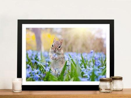 Buy Squirrel in Bloom Wildlife Framed Wall Art