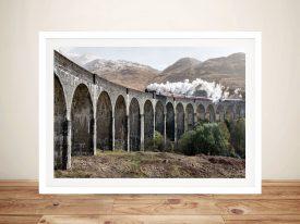 Buy Ancient Viaduct Steam Train Framed Art