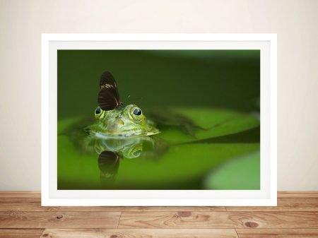 Buy Free Ride Frog Wildlife Wall Art Prints