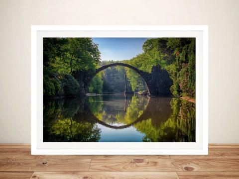 Buy Circle of Reflection Landscape Framed Art