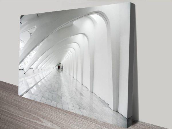 Futuristic Architecture Cheap Stretched Canvas Art