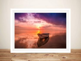 Buy Basking in Sunrise A Seascape Framed Print