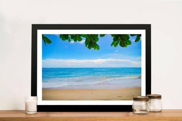 Buy Perfectly Calm Beachscape Canvas Art