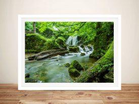 Buy Verdant Cascade Scenic Waterfall Wall Art