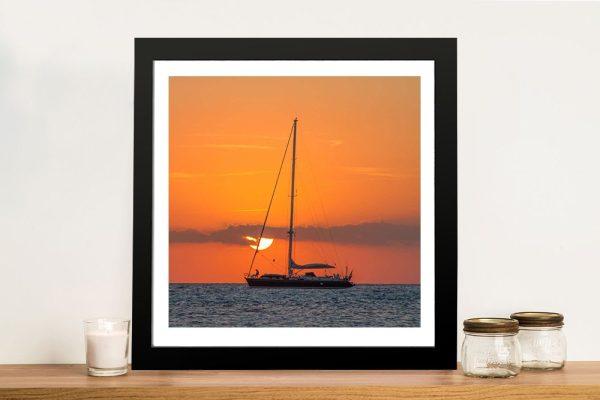 Buy Boat at Dusk Framed Canvas Artwork