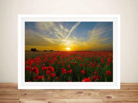 Buy Poppy Field Sunset Gorgeous Floral Artwork