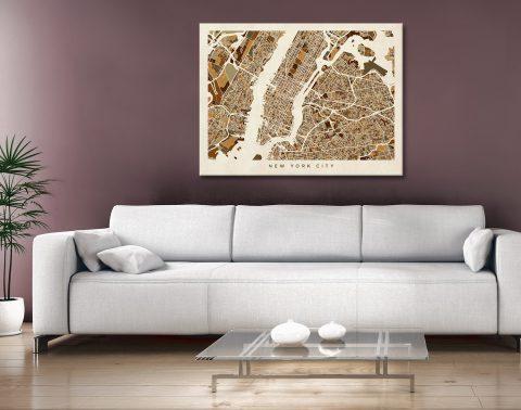 Buy New York City Street Map Wall Art Gift Ideas