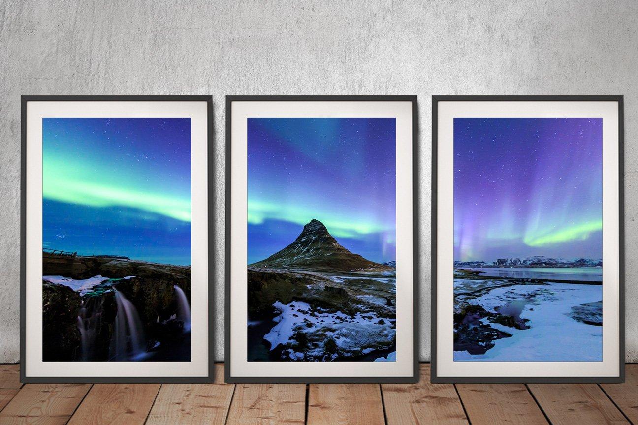 Iceland Aurora Canvas Art Set for Sale AU