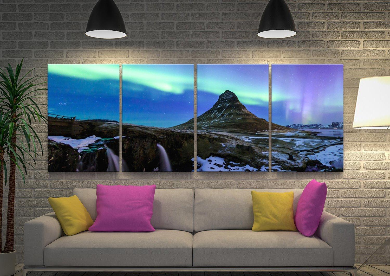 Buy Aurora Borealis Four Piece Canvas Art Set
