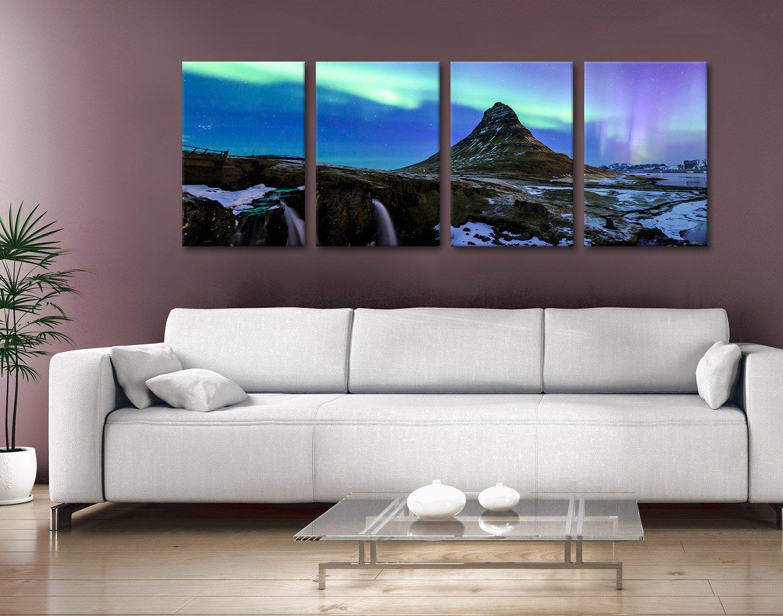 Four-Piece Iceland Aurora Canvas Art Set