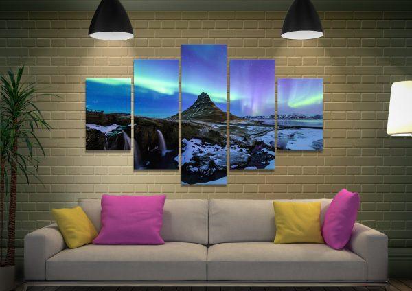 Iceland Aurora Split Diamond Art for Sale