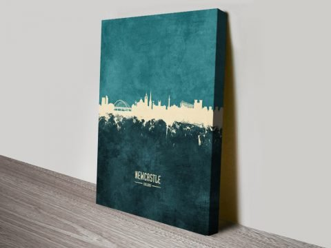 Newcastle Two-Tone Skyline Cheap Wall Art AU