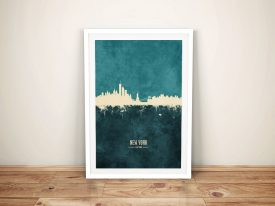 Buy A New York Skyline Two-Tone Canvas Print