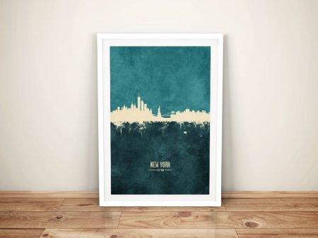 Buy A New York Skyline Two-Tone Canvas Print