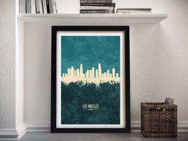 Buy A Los Angeles Two-Tone Skyline Print