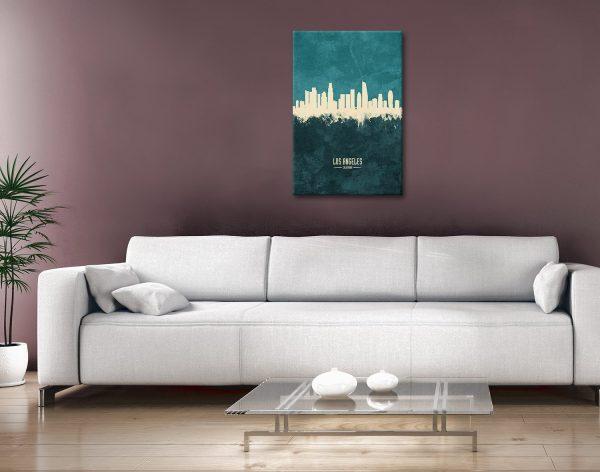 Buy LA Skyline Artwork Cheap Gift Ideas Online
