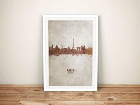 Buy Paris Rust Skyline Framed Wall Art