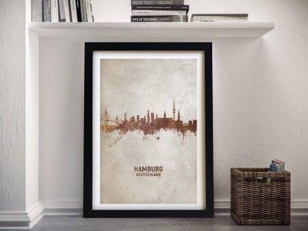 Buy Hamburg Skyline Framed Canvas Wall Art