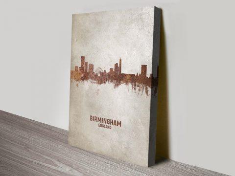 Buy Birmingham Skyline Canvas Art Online