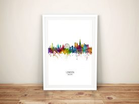 London Multicoloured Skyline Framed Print