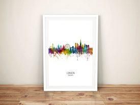 London Multicoloured Skyline Framed Print