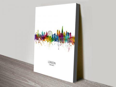Buy Colourful London Skyline Tompsett Prints