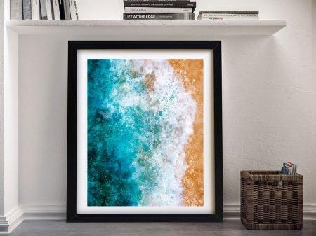 Buy Ocean Watercolour Framed Canvas Prints