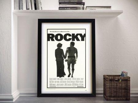 Rocky Movie Poster Framed Wall Art Sydney