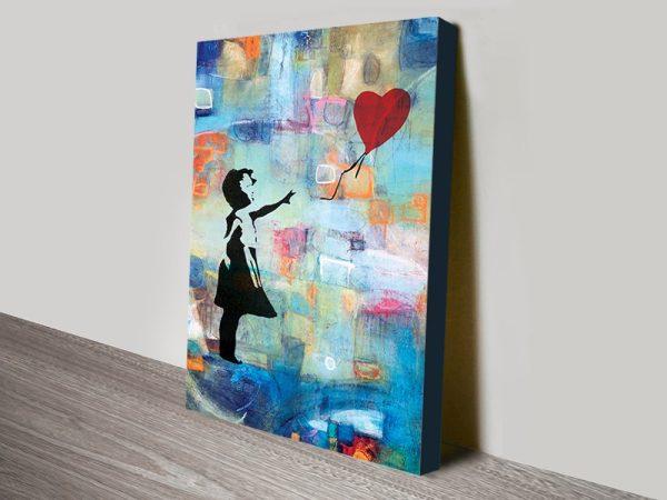 Buy Summer of Love Graffiti Canvas Wall Art
