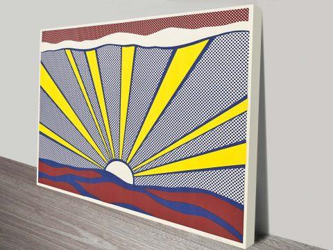 Buy Sunrise Cheap Pop Art Canvas Prints Online