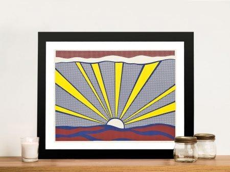 Sunrise by Lichtenstein Pop Art Canvas Art