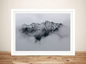 Above The Clouds Mountain Framed Wall Art