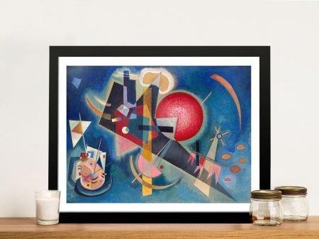 Im Blau Framed Kandinsky Canvas Art