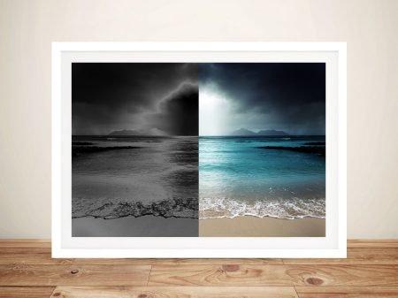 Atmospheric Shore Ocean Scene Wall Art Print Melbourne
